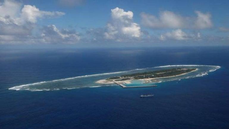 The island of Itu Aba in the South China Sea