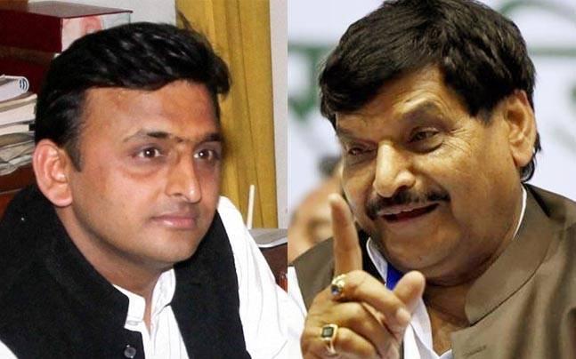 Akhilesh and Shivpal Yadav.