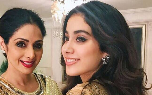 Image result for sridevi not able to see jhanvi movie