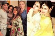 Aashka Goradia and Brent Goble's Indian engagement ceremony seemed a lot of fun; see pics