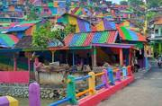 To experience a burst of colours, head to this Rainbow Village
