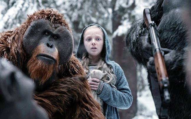 A still from War For The Planet Of The Apes