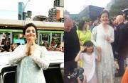 WATCH: Aishwarya Rai Bachchan, daughter Aaradhya hoist Indian flag at IFFM 2017