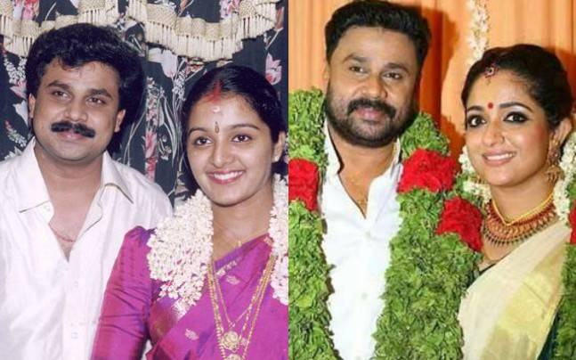 Dileep With Manju Warrier And Kavya Madhavan