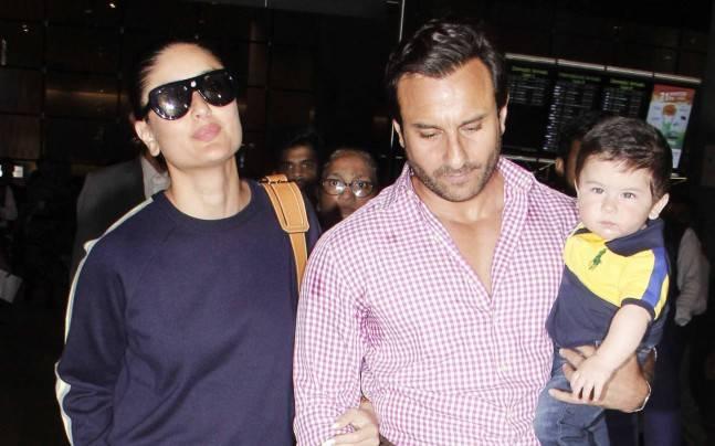 Saif Ali Khan, Taimur, Kareena Kapoor