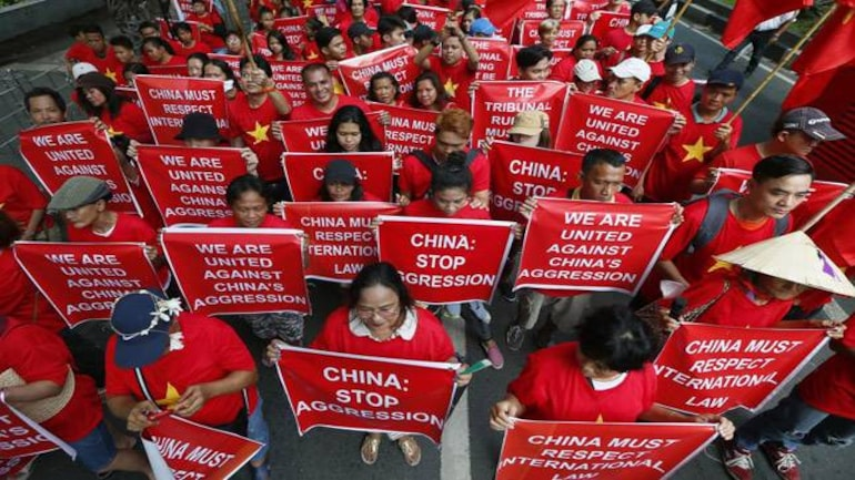 Protest against China's Salami Slicing policy in Philippines