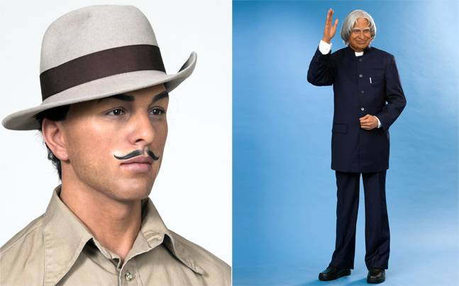 Wax figures of Bhagat Singh and APJ Abdul Kalam