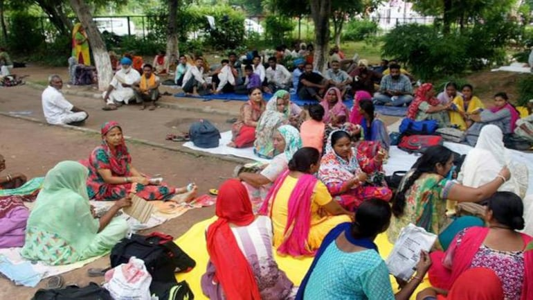 Women followers of Ram Rahim of Dera Sacha Sauda