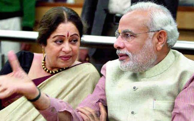 Chandigarh MP Kirron Kher backs Varnika Kundu. Photo: PTI.