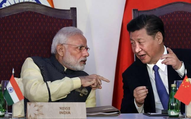 Narendra Modi and Xi Jinping.