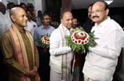 Vice-President elect Venkaih Naidu reaches Tirupati, seeks blessings