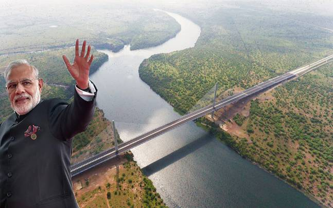 PM Modi inaugurates hanging bridge across Chambal river in Kota
