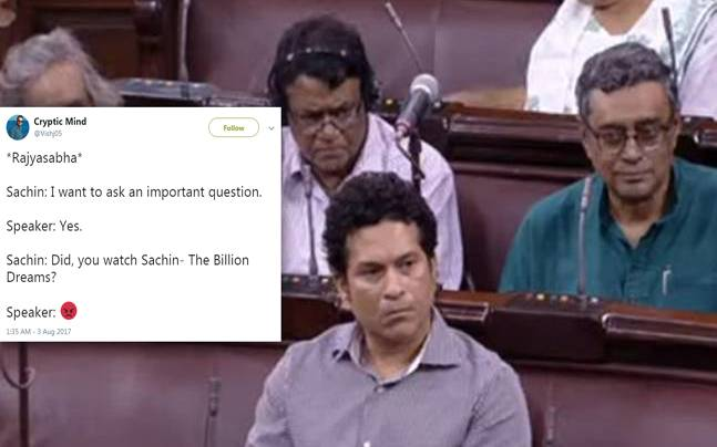 Twitter had a field day after Sachin Tendulkar attended Rajya Sabha session