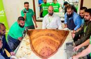 The record for the world's largest samosa has now been broken, in London