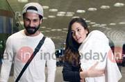 SEE PICS: Shahid-Mira leave for vacation to ring in daughter Misha's first birthday