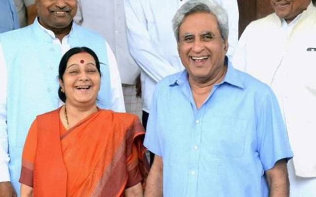 Image result for sushma swaraj husband