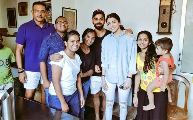 Lovebirds Virat Kohli and Anushka Sharma are painting Sri Lanka red