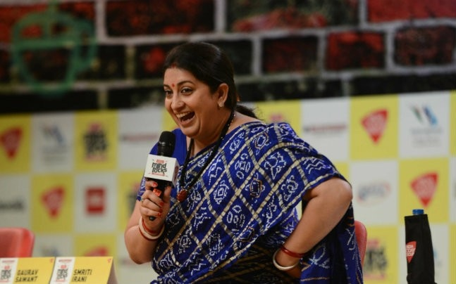 Smriti Irani at Mind Rocks Delhi 2017