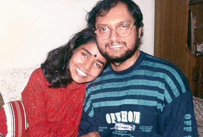 Author KS Narendran's with his wife.