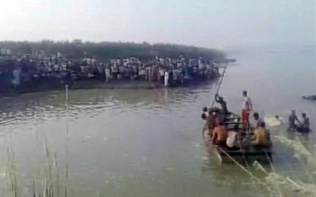 Boat Capsizes in Yamuna river