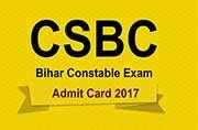 Bihar Police Constable Exam 2017: Admit cards released at csbc.bih.nic.in