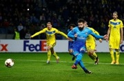 Europa League: Arsenal's Giroud reaches ton in win, Lokomotiv striker bags quick treble