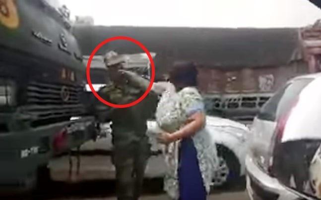 Gurgaon woman caught slapping army officer