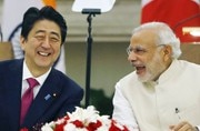 Shinzo Abe and Narendra Modi. Photo: PTI