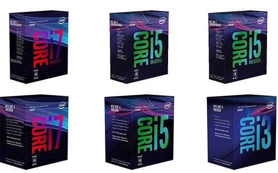 Intel 8th Gen Core processors