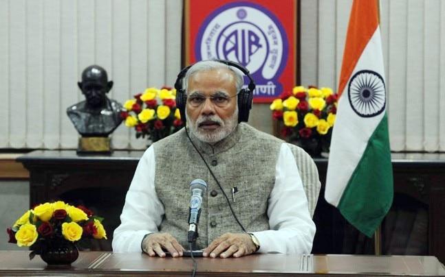 PM Narendra Modi during Mann ki Baat radio broadcast