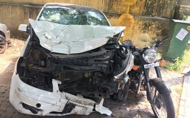 The accused followed and hit them with his car near AIIMS