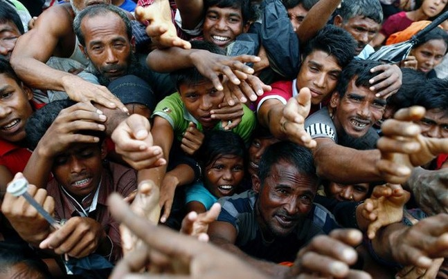 More than 4 lakh Rohingyas have fled to Bangladesh since August 25.