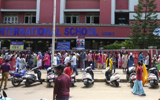 Parents outside Ryan International School in Sanpada, Mumbai
