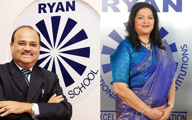 Dr Augustine Francis Pinto and Grace Pinto, chairman and managing director respectively, of the Ryan International Group of Institutions (Photos: Ryan Group website).