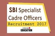 SBI Specialist Cadre Officers Recruitment 2017: Important dates