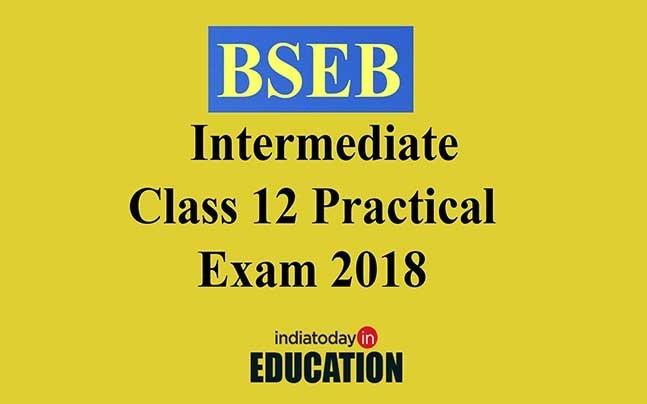 BSEB Intermediate Class 12 Board Practical Exam 2018 dates