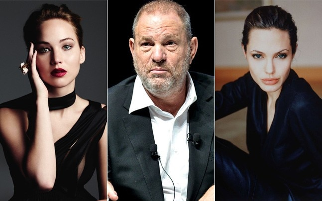 Jennier Lawrence has slammed Harvey Weinstein and Angelina Jolie has accused him of sexual harassment
