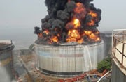 SEE PICS: Enormous fire after lightning strikes Mumbai oil terminal
