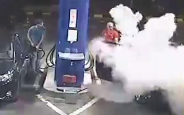 Gas station employee teaches smoker a lesson