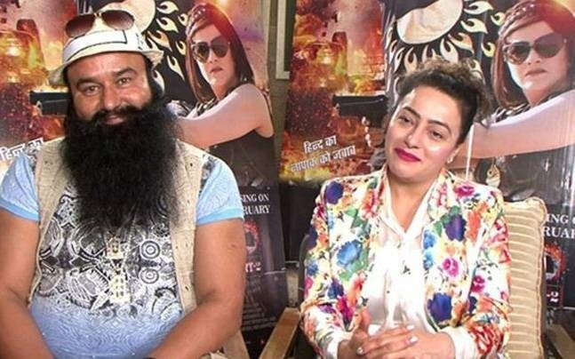 Gurmeet Ram Rahim with Honeypreet Insan