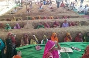 Jaipur farmers bury themselves partially to protest against land acquisition
