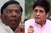 War for Puducherry escalates between CM Narayanaswamy and Governor Kiran Bedi