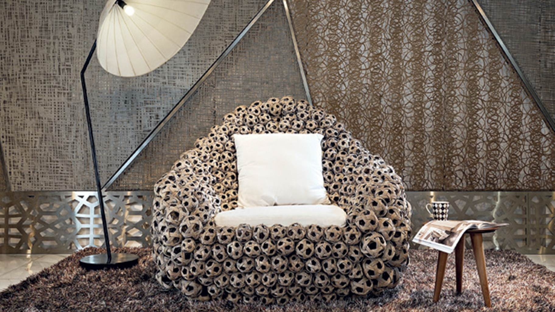 Make a statement with the Popcorn Chair from IOTA.