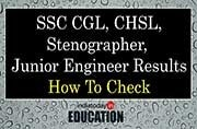SSC CGL, CHSL, Stenographer, Junior Engineer Results: How to check