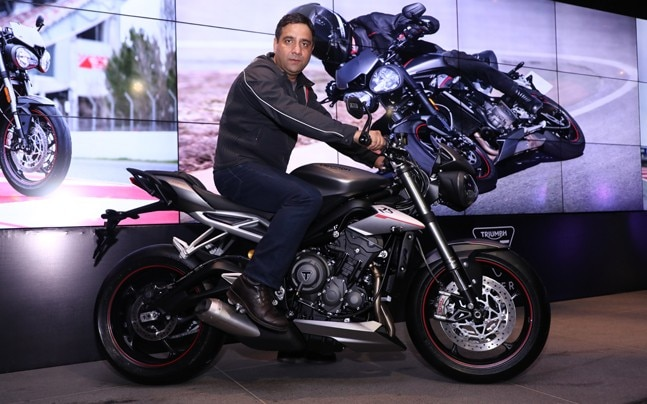 Vimal Sumbly, Managing Director, Triumph Motorcycles India on the newly launched Street Triple RS.