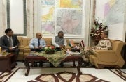Minister of State for External Affairs VK Singh meeting Iraq's army chief