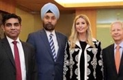 Ivanka Trump chooses a classy black outfit for her first day in Hyderabad