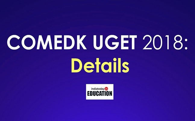 COMEDK UGET 2018 will be conducted on May 13