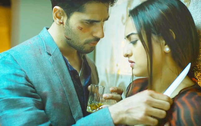 Sidharth Malhotra and Sonakshi Sinha in a still from Ittefaq