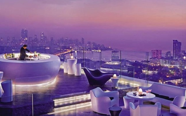 Aer is one of the few rooftop restaurants in Mumbai at present. Picture courtesy: Pinterest